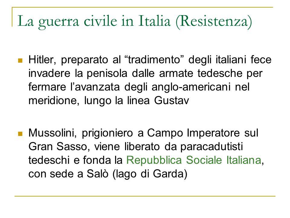 La guerra civile in Italia (Resistenza)
