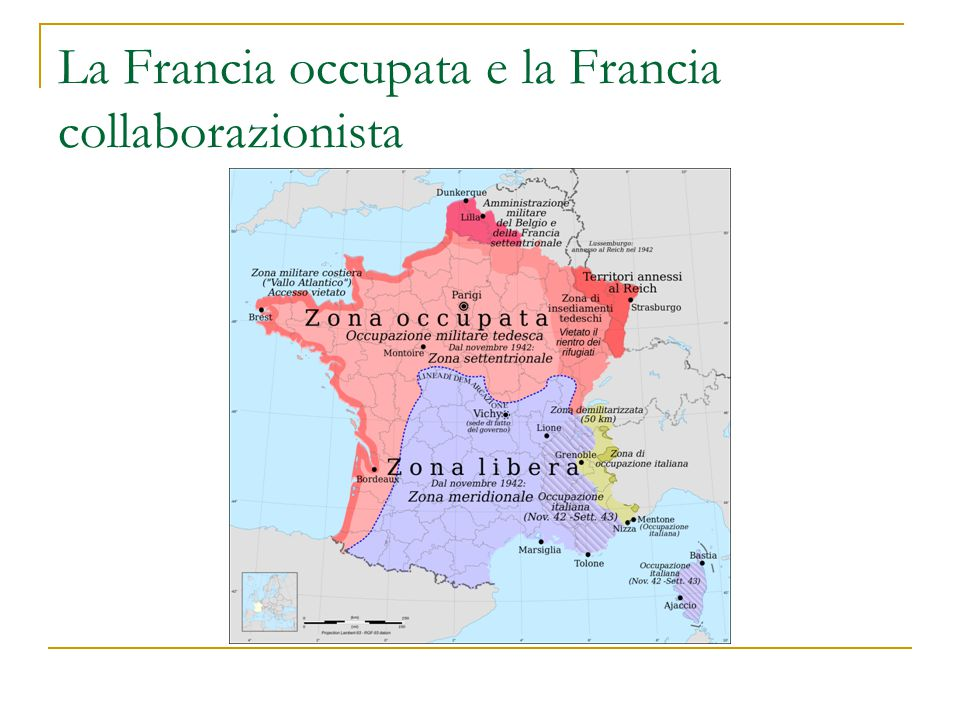 La Francia occupata e la Francia collaborazionista