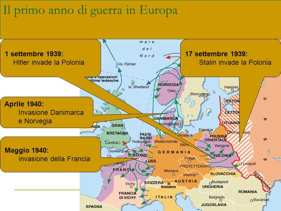 Il primo anno di guerra in Europa