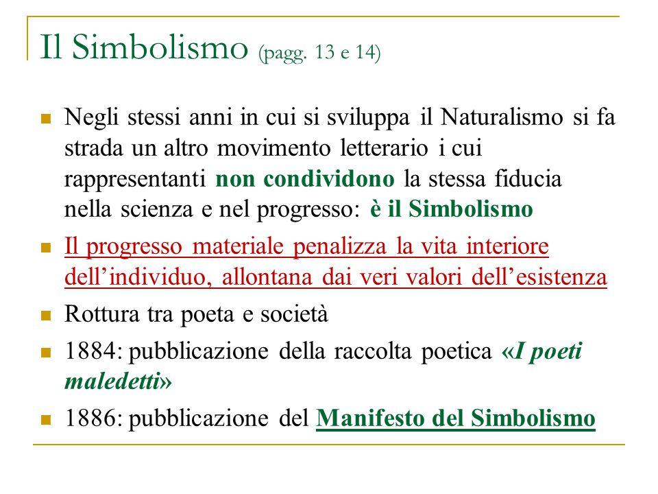 Il Simbolismo (pagg. 13 e 14)