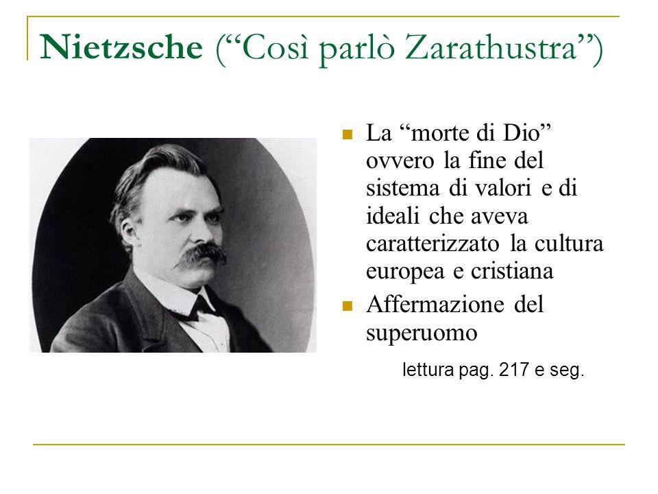 Nietzsche ( Così parlò Zarathustra )