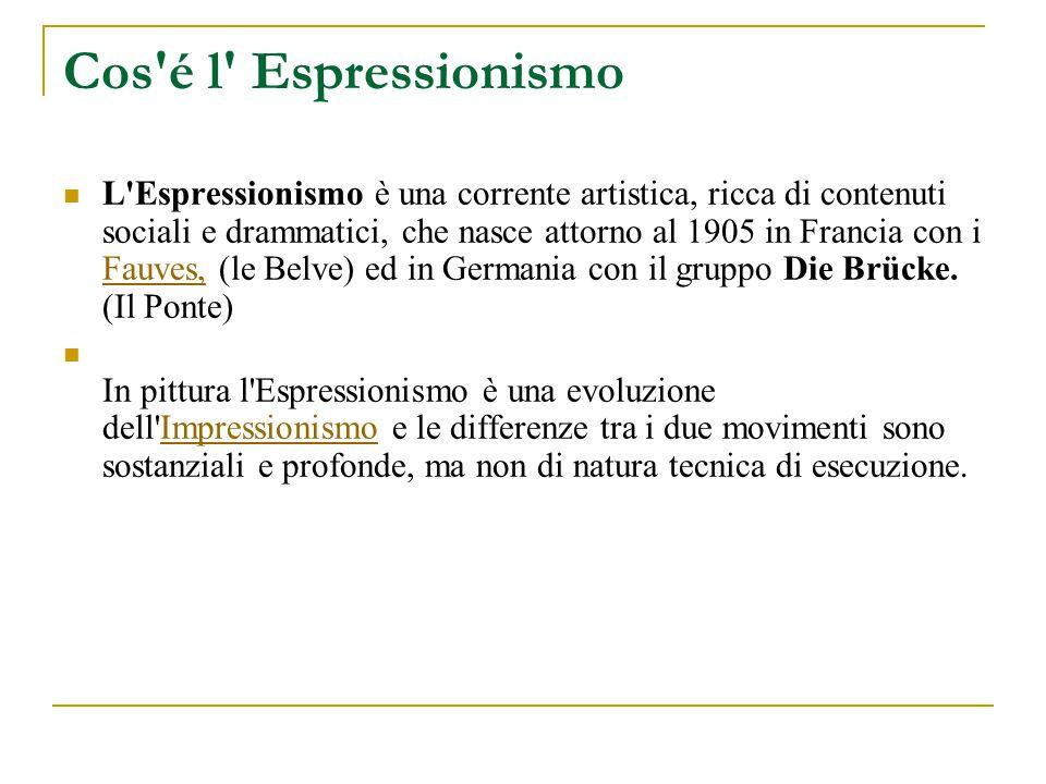 Cos é l Espressionismo