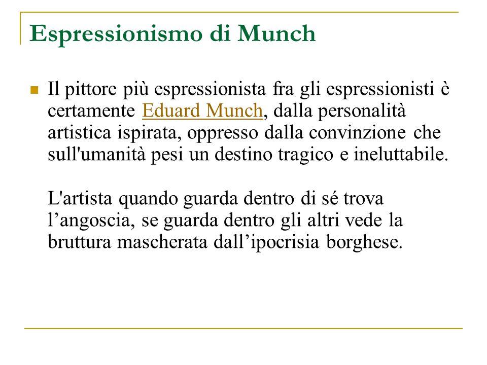 Espressionismo di Munch