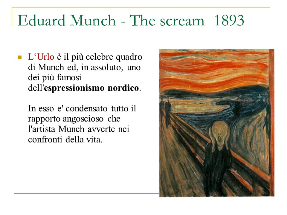 Eduard Munch - The scream 1893