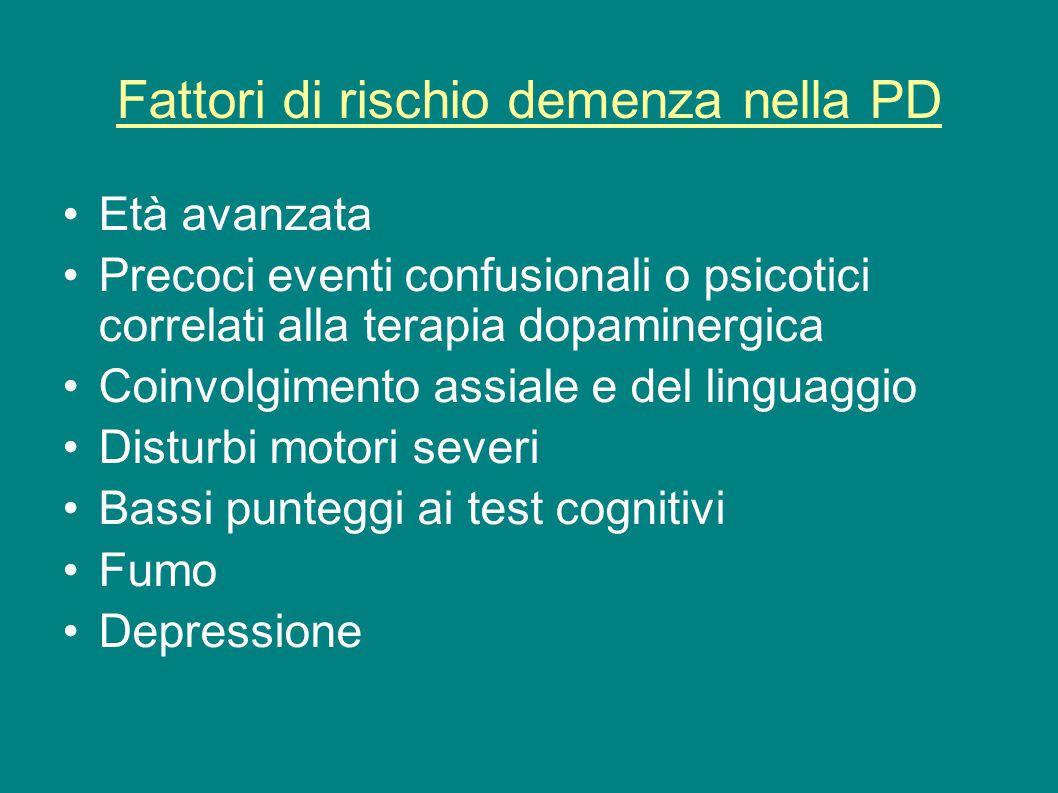 Fattori di rischio demenza nella PD