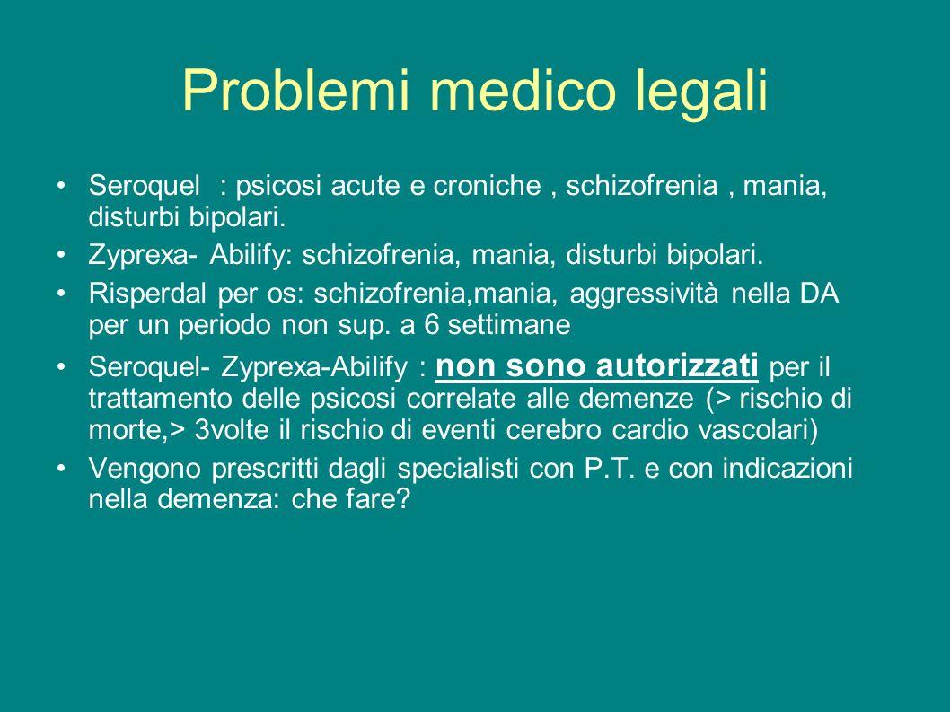Problemi medico legali