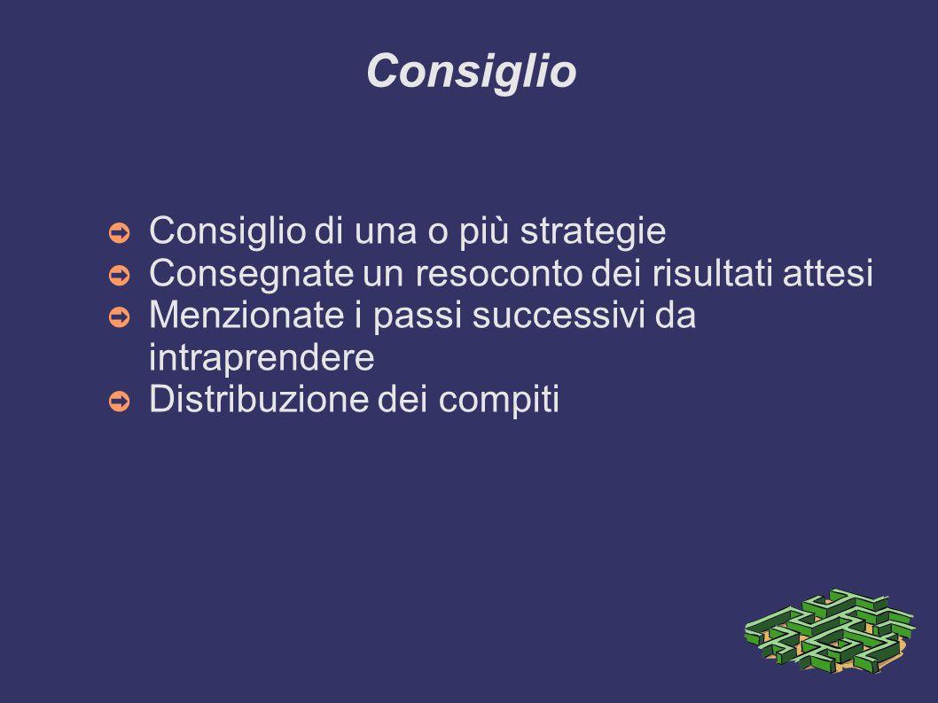 Consiglio Consiglio di una o più strategie
