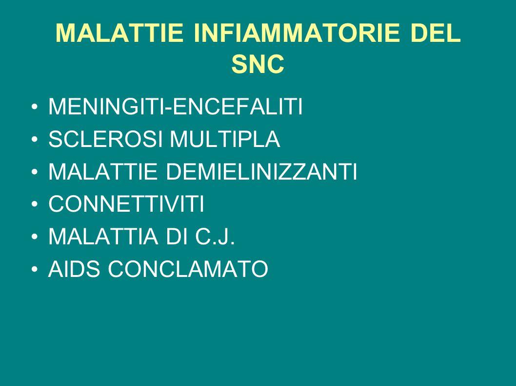 MALATTIE INFIAMMATORIE DEL SNC