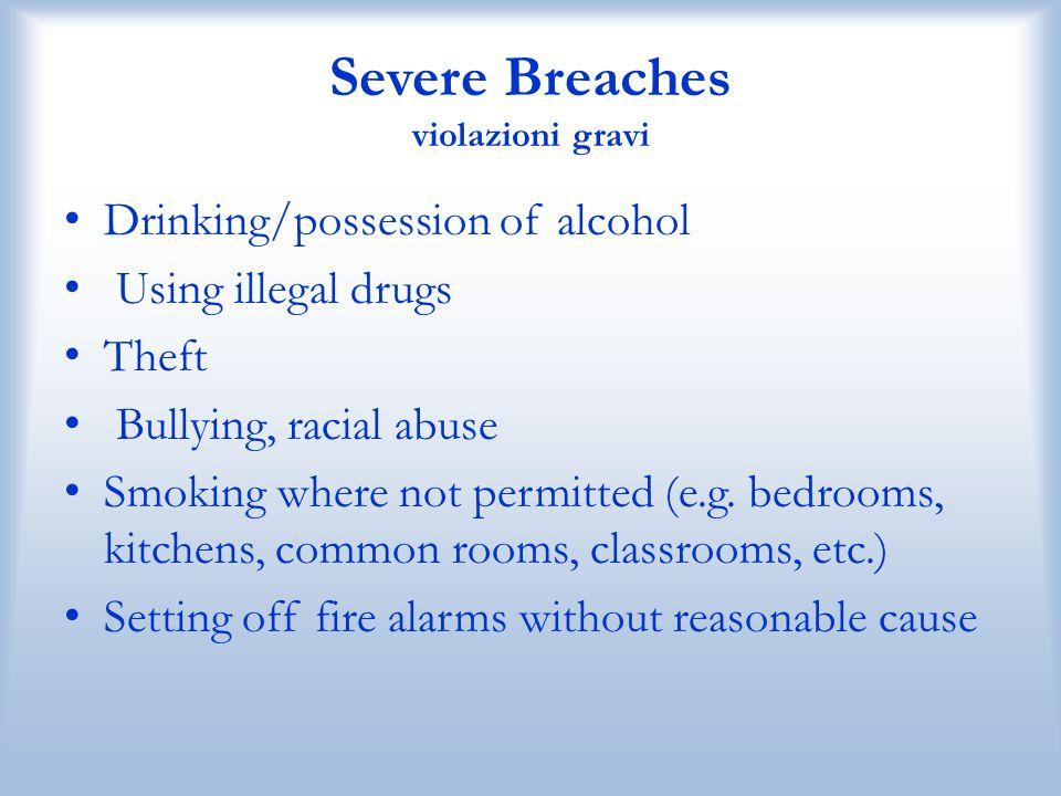 Severe Breaches violazioni gravi
