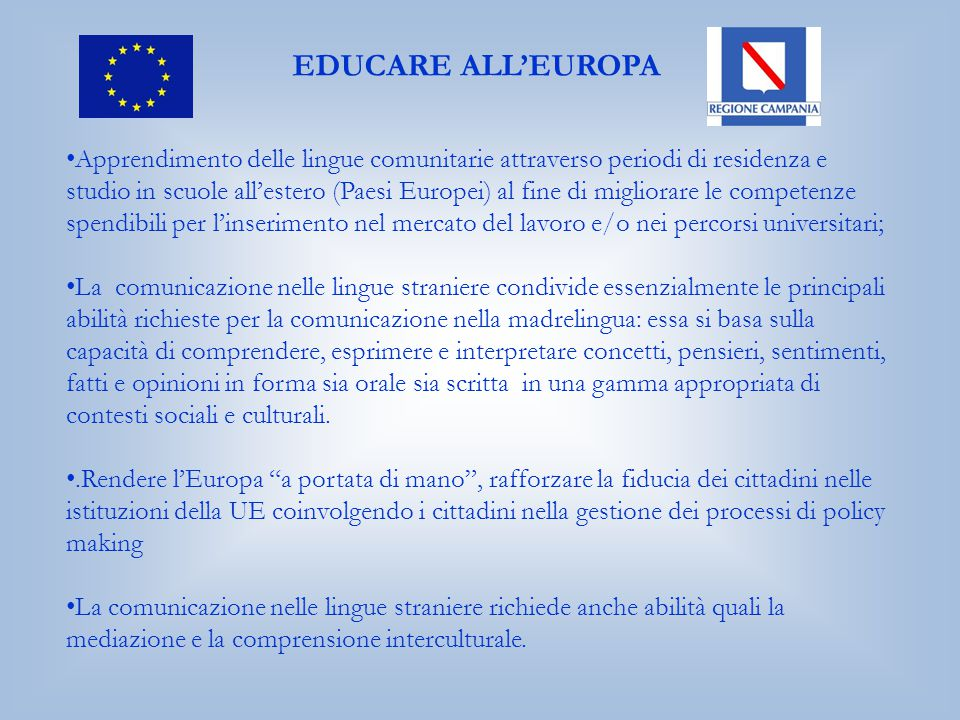 EDUCARE ALL'EUROPA