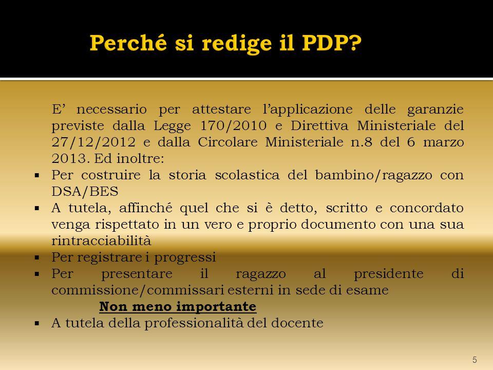 Perché si redige il PDP