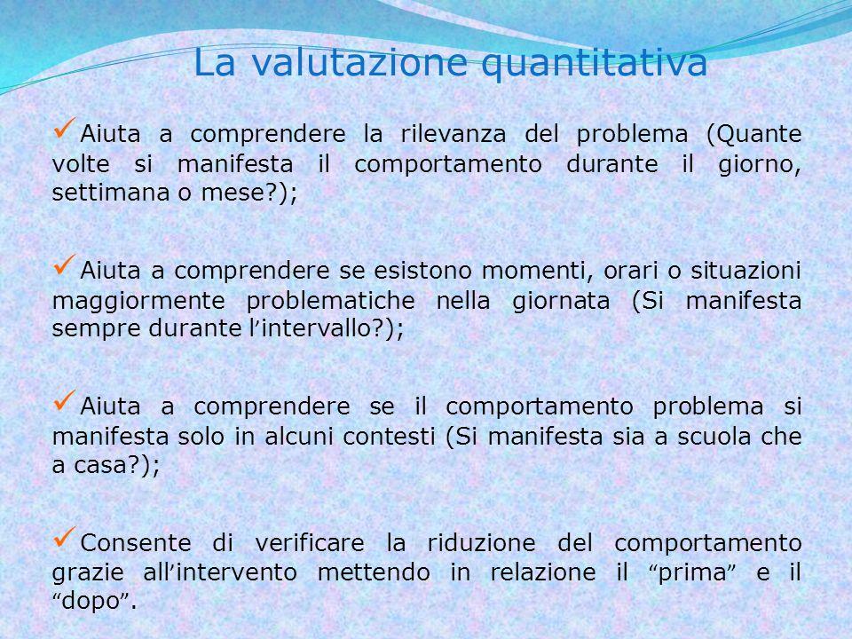 La valutazione quantitativa