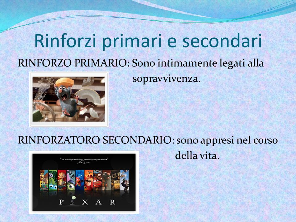 Rinforzi primari e secondari