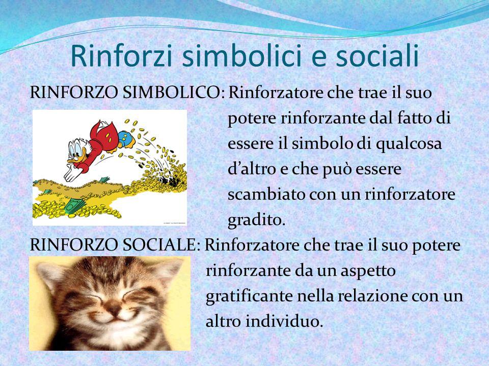 Rinforzi simbolici e sociali
