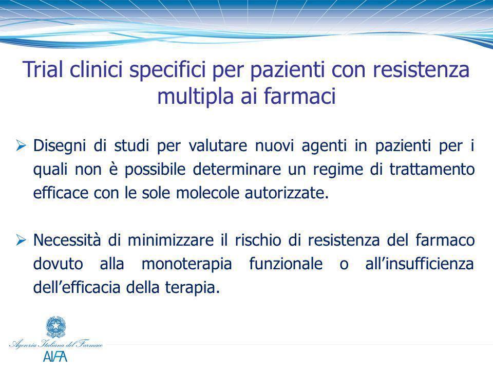 Trial clinici specifici per pazienti con resistenza multipla ai farmaci