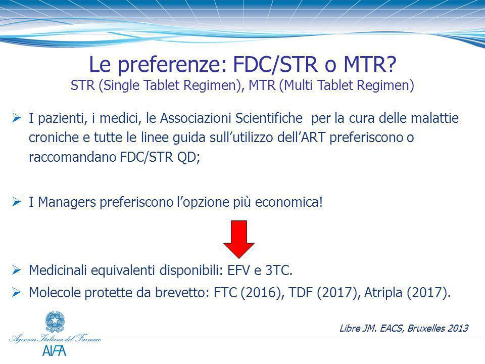 Le preferenze: FDC/STR o MTR