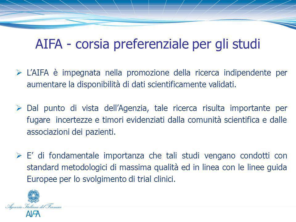 AIFA - corsia preferenziale per gli studi