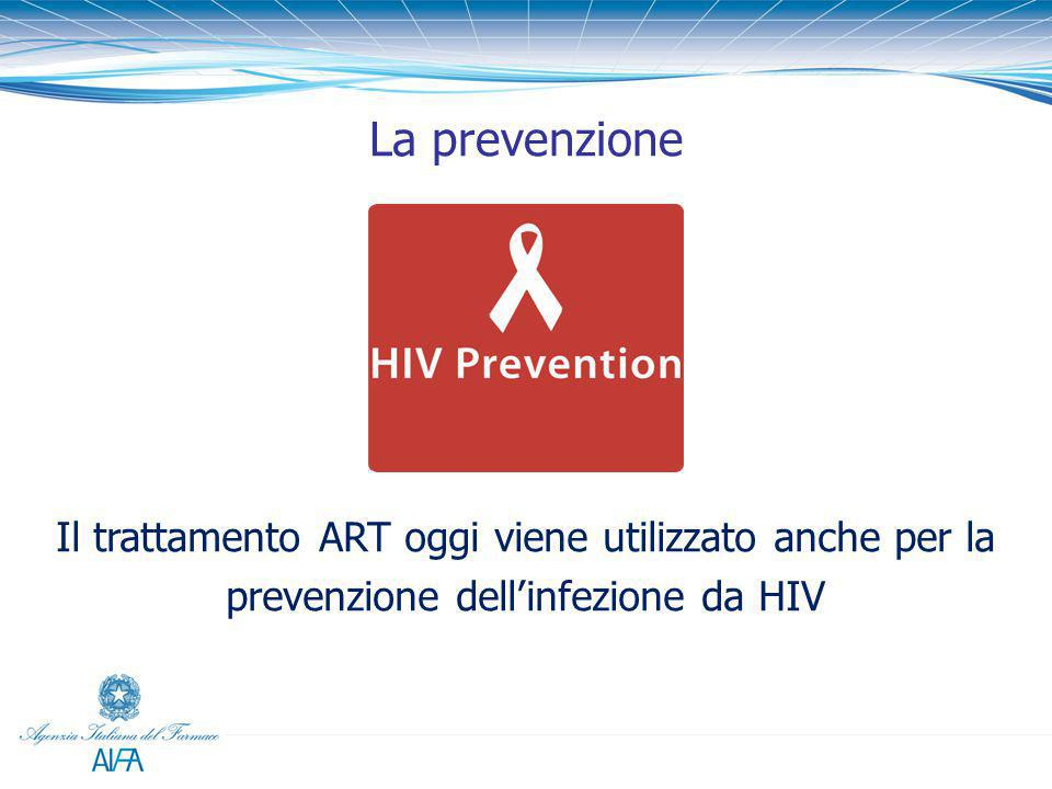 La prevenzione Il trattamento ART oggi viene utilizzato anche per la prevenzione dell'infezione da HIV.
