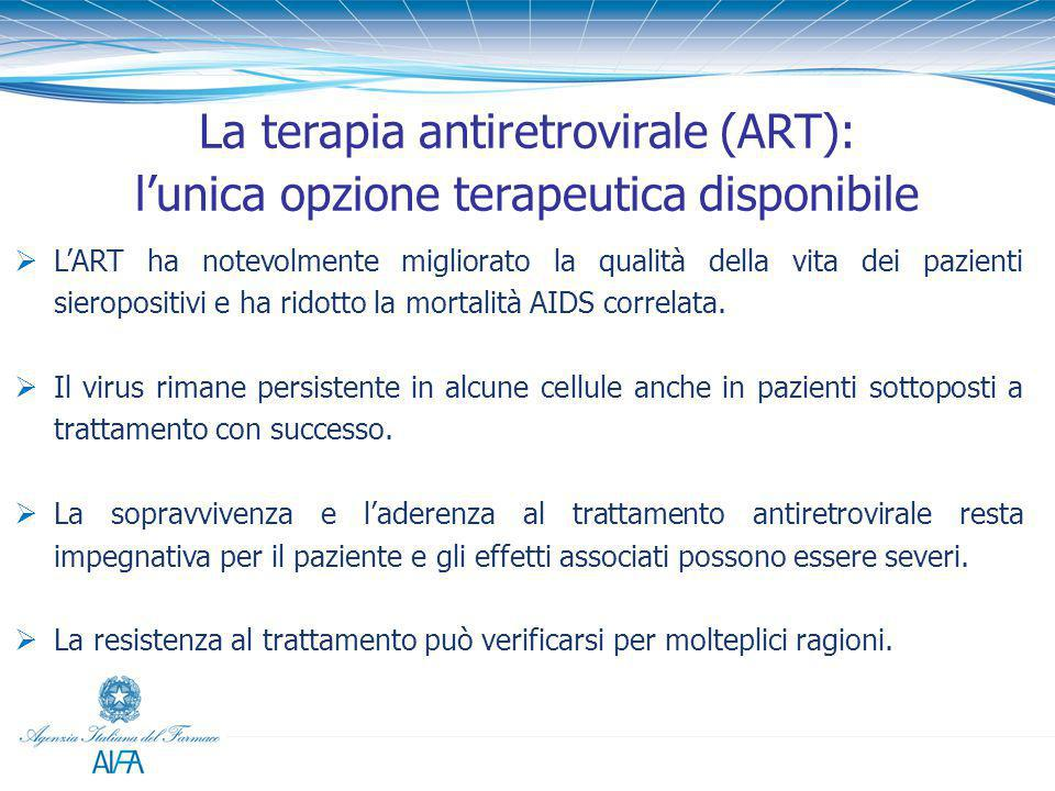 La terapia antiretrovirale (ART):