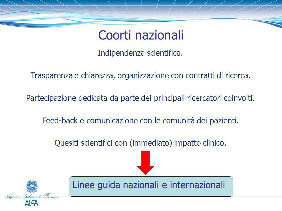 Coorti nazionali Linee guida nazionali e internazionali