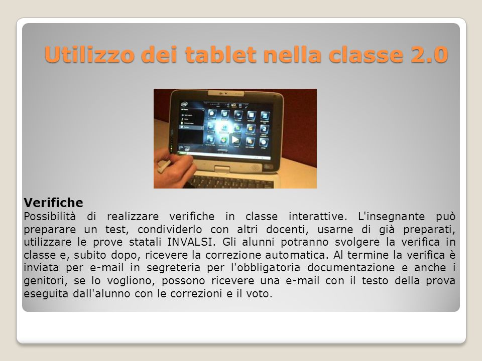 Utilizzo dei tablet nella classe 2.0