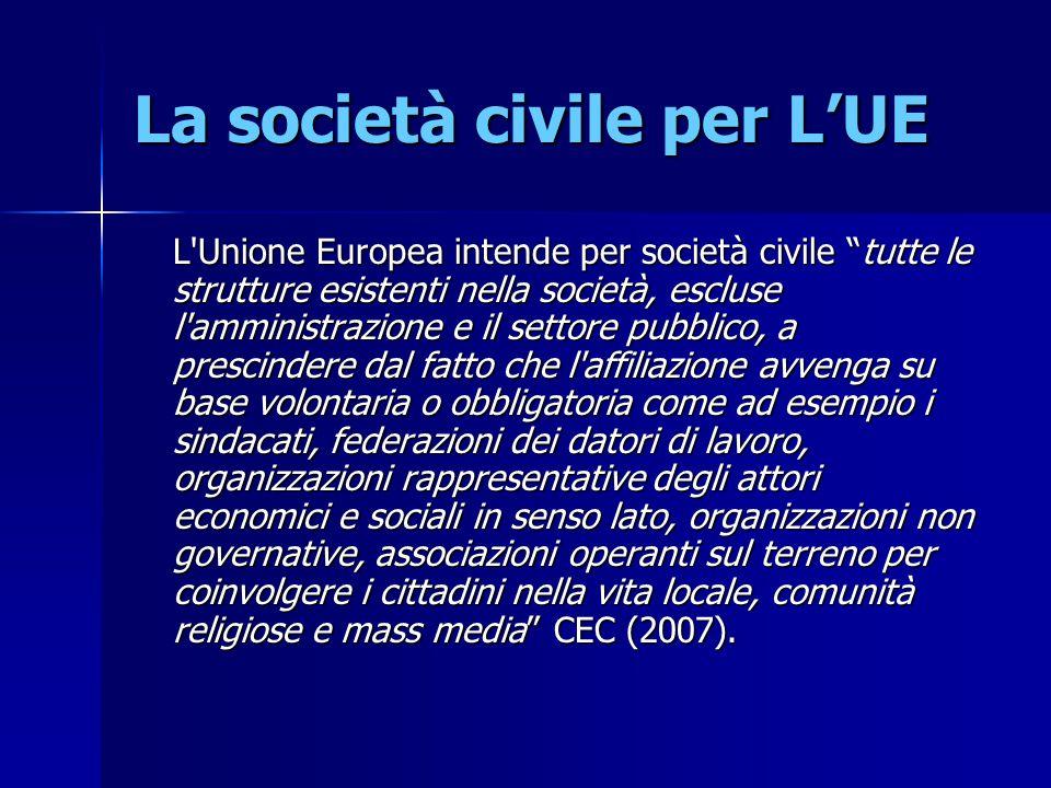 La società civile per L'UE
