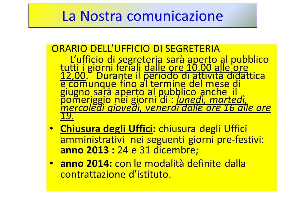 La Nostra comunicazione