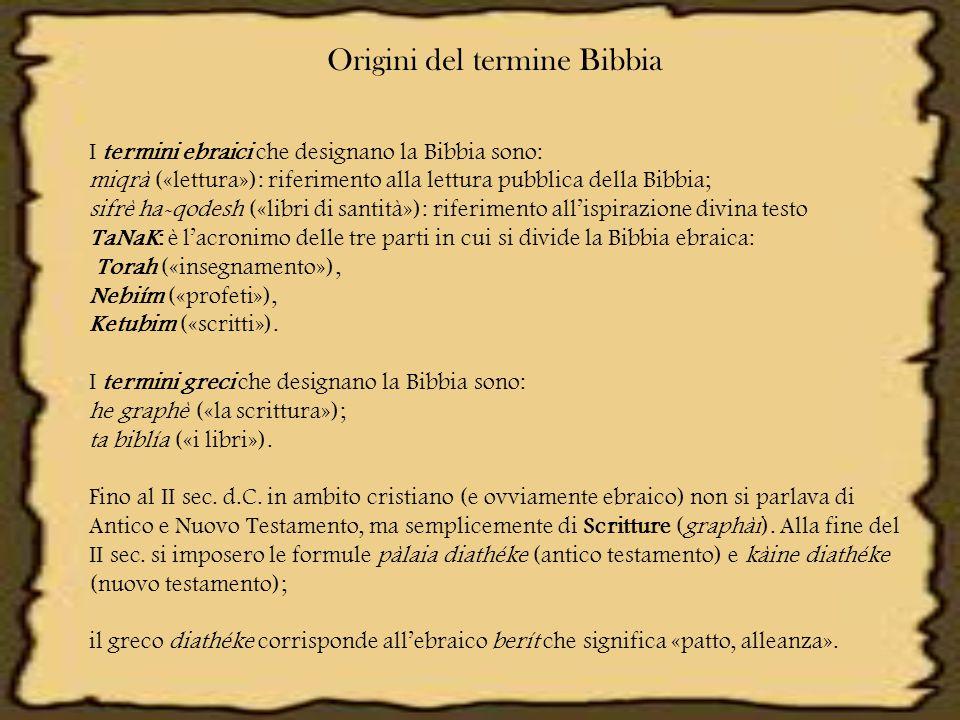 Origini del termine Bibbia