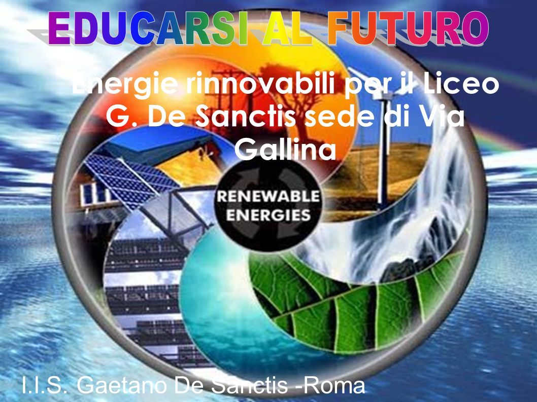Energie rinnovabili per il Liceo G. De Sanctis sede di Via Gallina