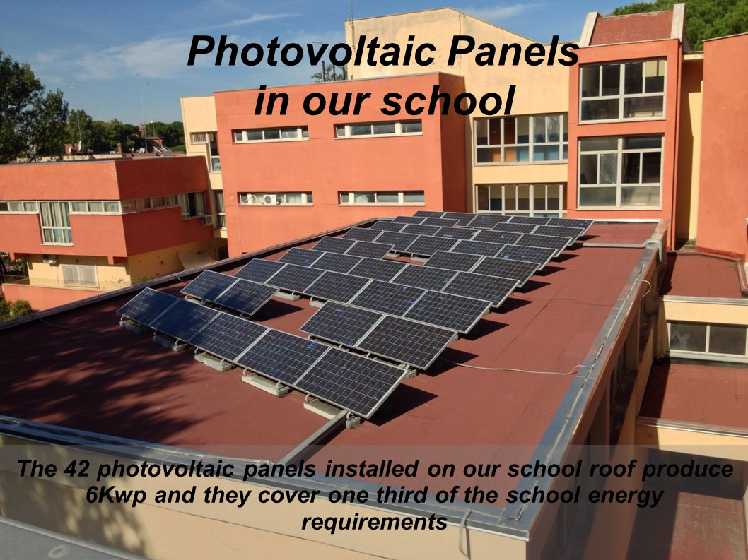 Photovoltaic Panels in our school