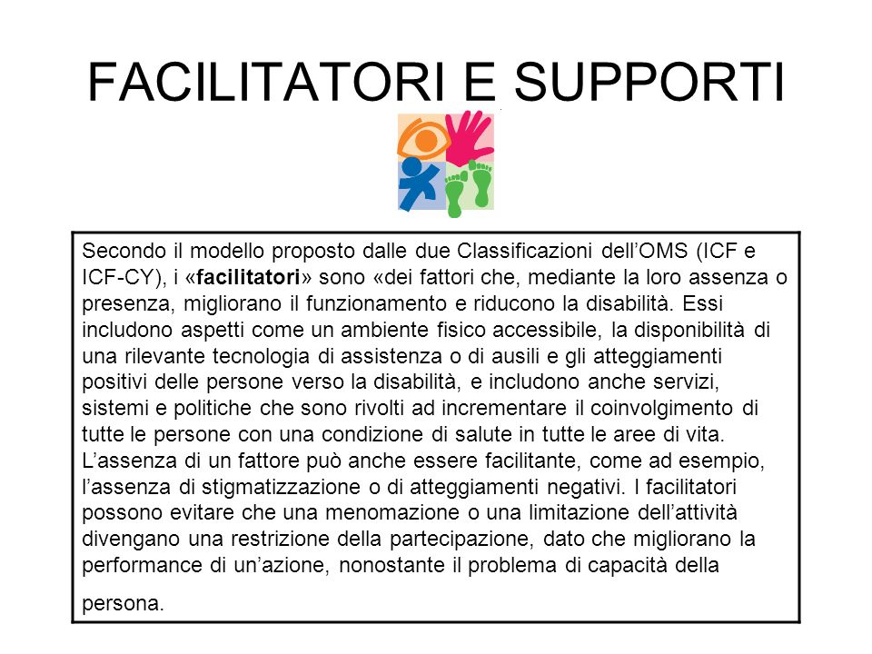 FACILITATORI E SUPPORTI