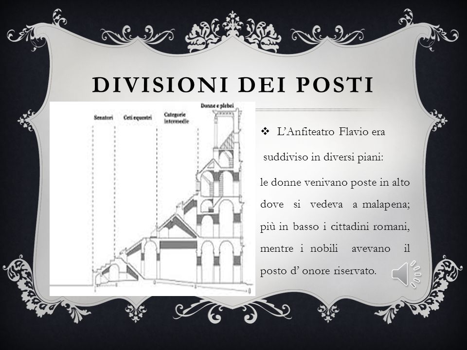 Divisioni dei posti suddiviso in diversi piani: