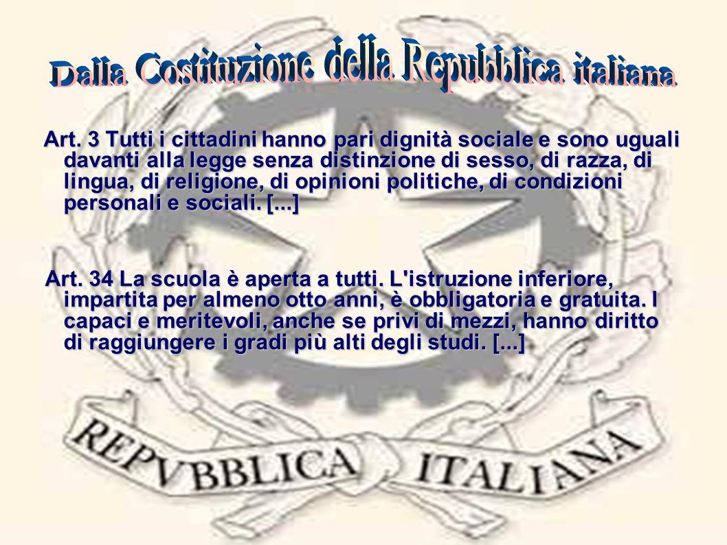 Dalla Costituzione della Repubblica italiana