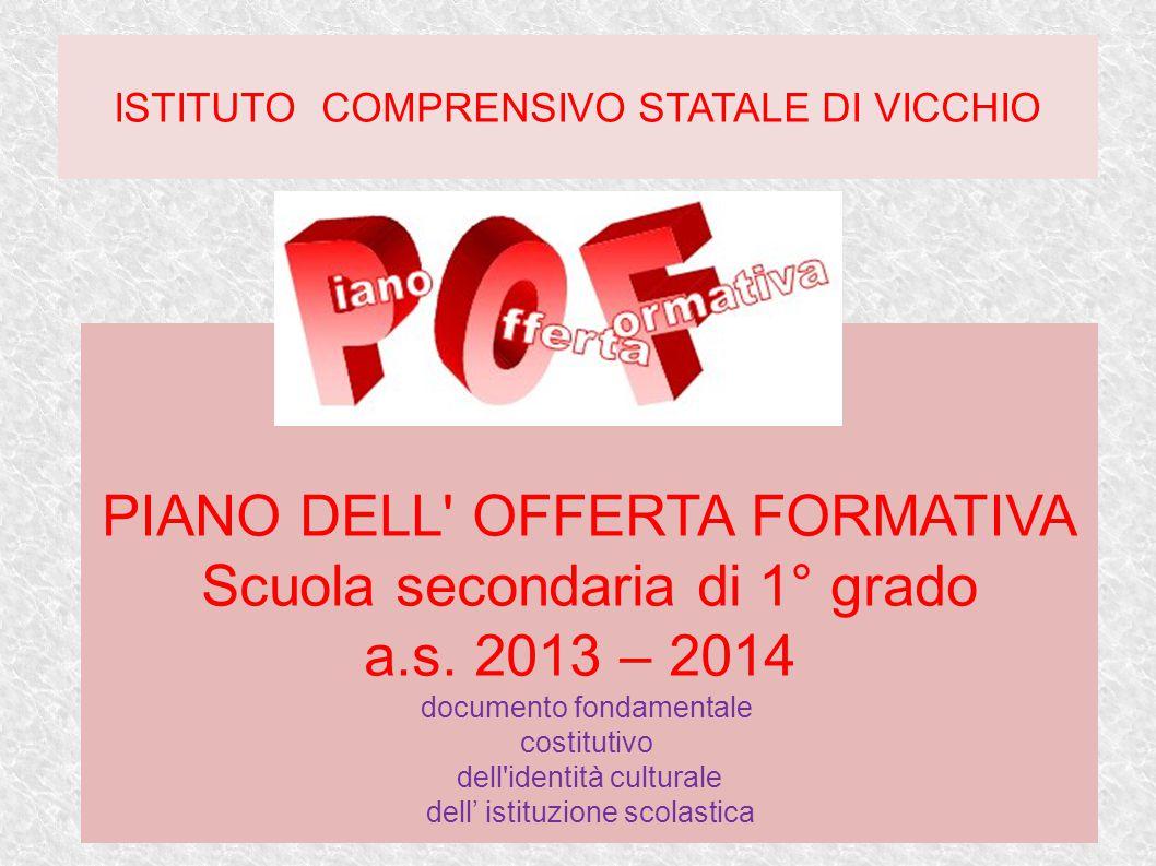 PIANO DELL OFFERTA FORMATIVA Scuola secondaria di 1° grado