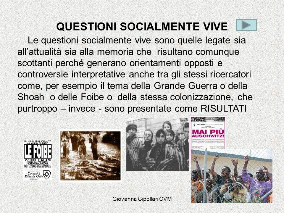QUESTIONI SOCIALMENTE VIVE