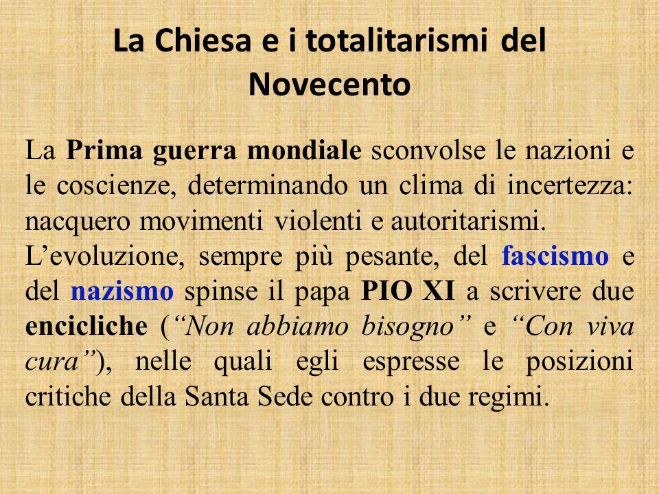 La Chiesa e i totalitarismi del Novecento