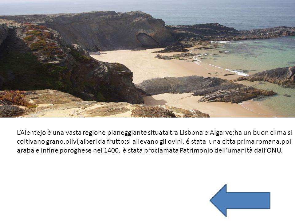 L'Alentejo è una vasta regione pianeggiante situata tra Lisbona e Algarve;ha un buon clima si