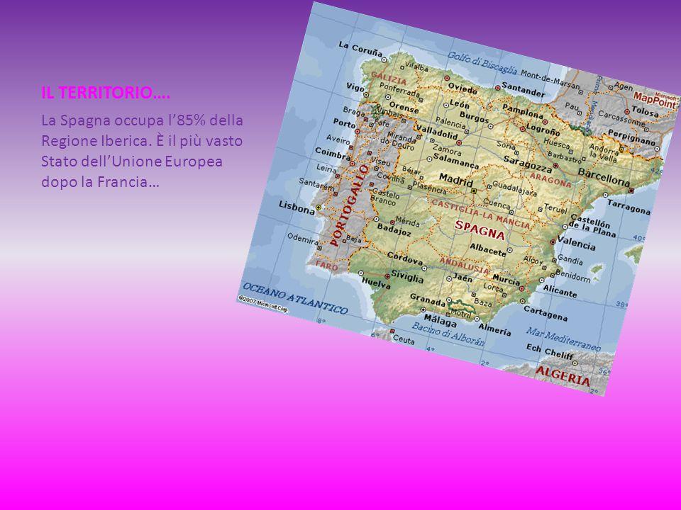IL TERRITORIO…. La Spagna occupa l'85% della Regione Iberica.