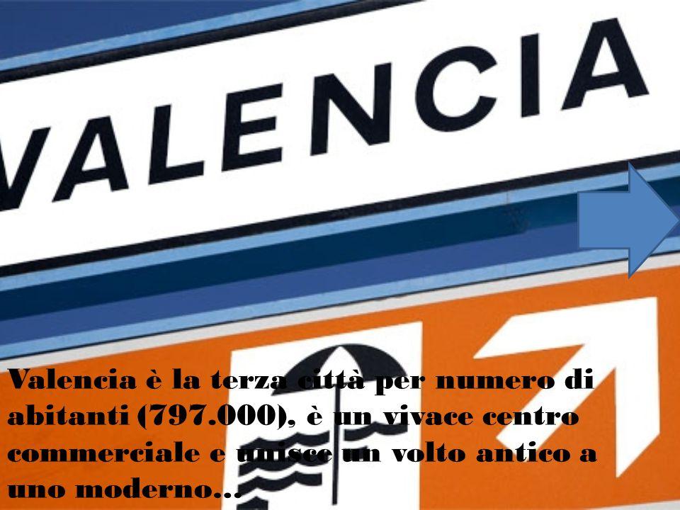 Valencia è la terza città per numero di abitanti (797