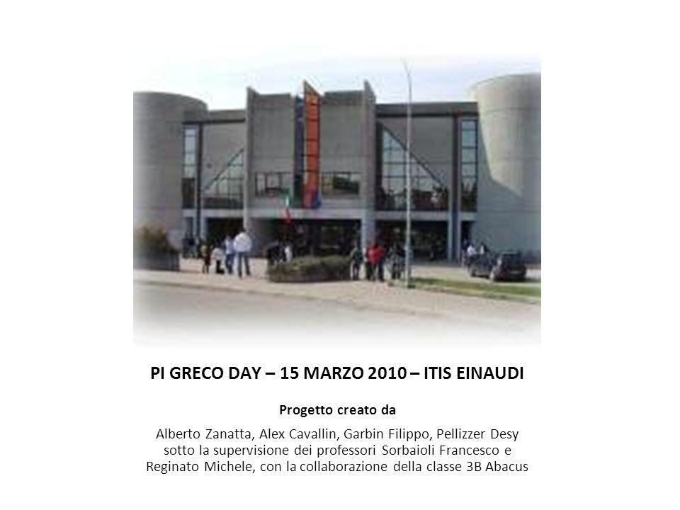 PI GRECO DAY – 15 MARZO 2010 – ITIS EINAUDI