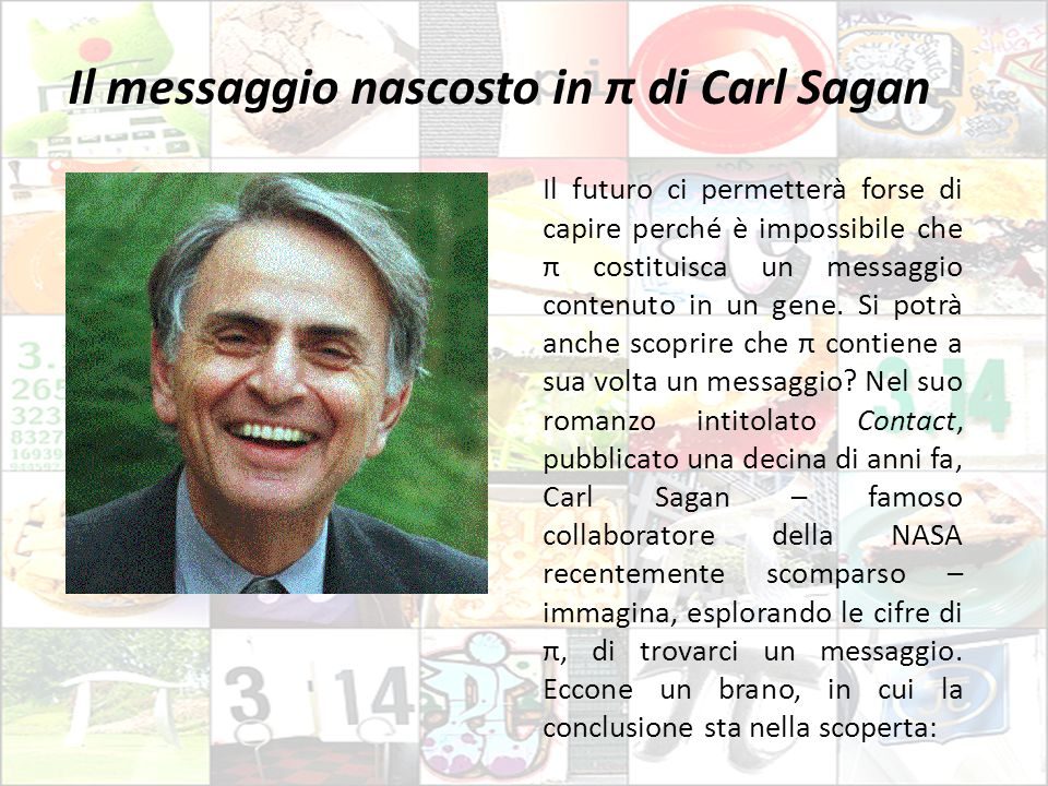 Il messaggio nascosto in π di Carl Sagan