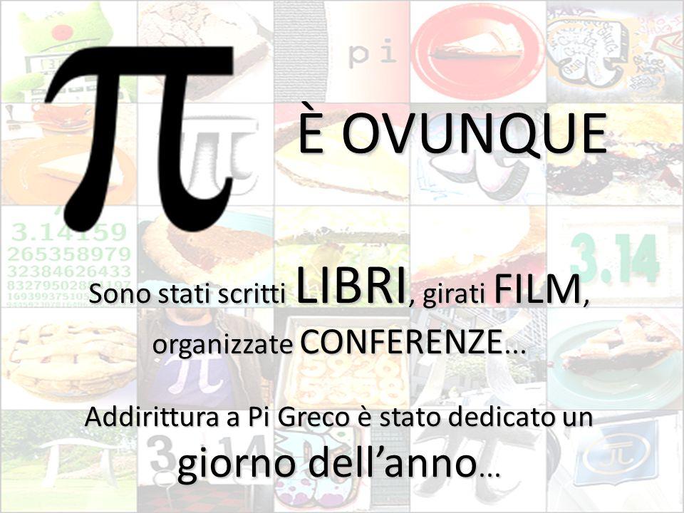 È OVUNQUE Sono stati scritti LIBRI, girati FILM, organizzate CONFERENZE...