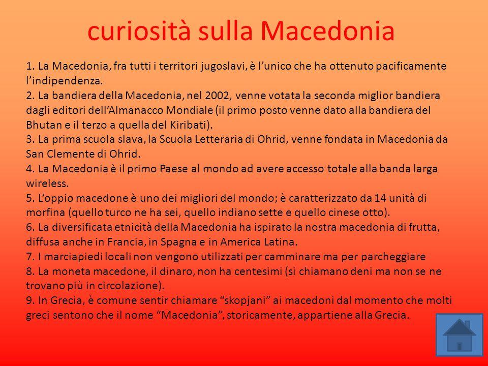 curiosità sulla Macedonia