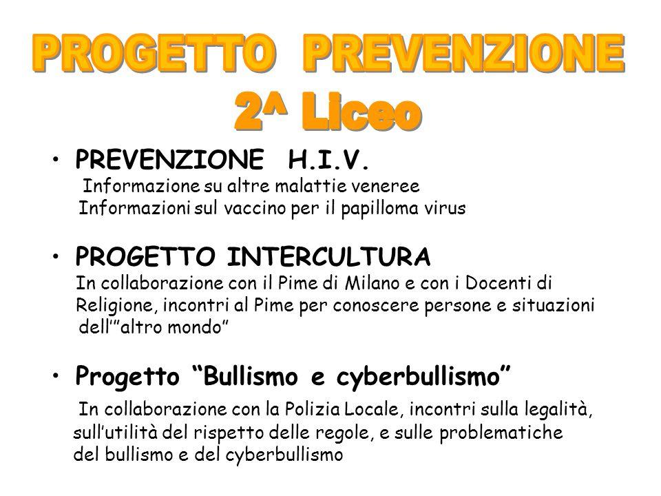 PROGETTO PREVENZIONE 2^ Liceo