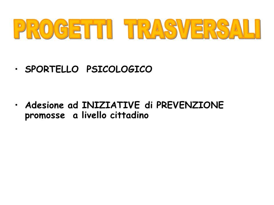 PROGETTI TRASVERSALI SPORTELLO PSICOLOGICO