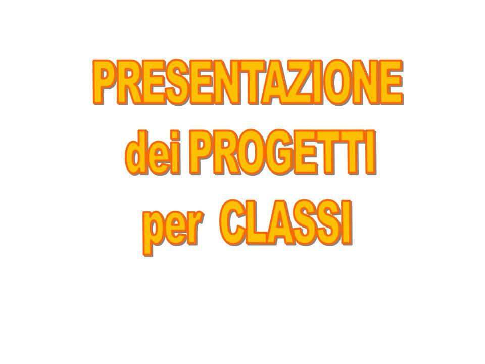 PRESENTAZIONE dei PROGETTI per CLASSI