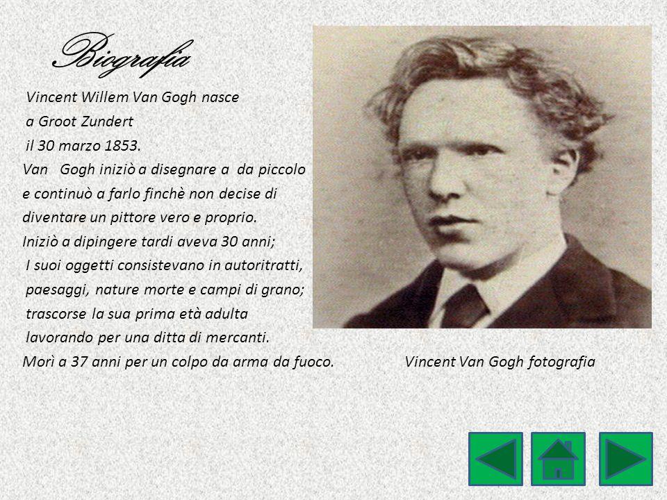 Biografia Vincent Willem Van Gogh nasce a Groot Zundert