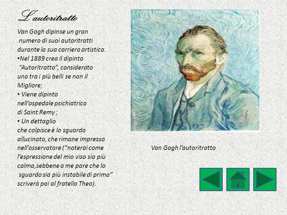 L'autoritratto Van Gogh dipinse un gran numero di suoi autoritratti