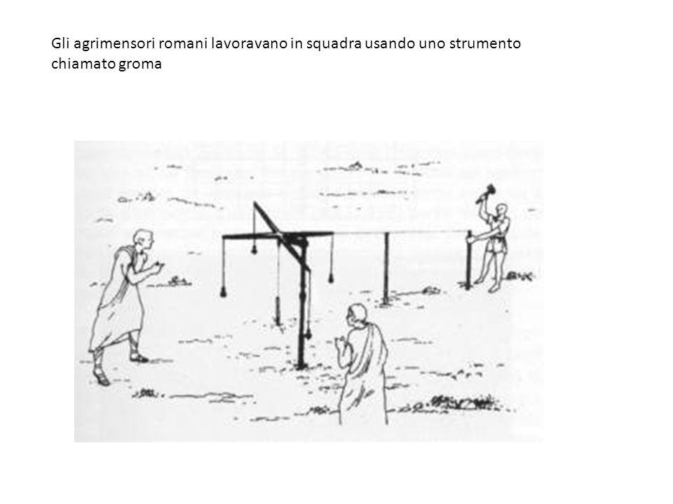 Gli agrimensori romani lavoravano in squadra usando uno strumento chiamato groma