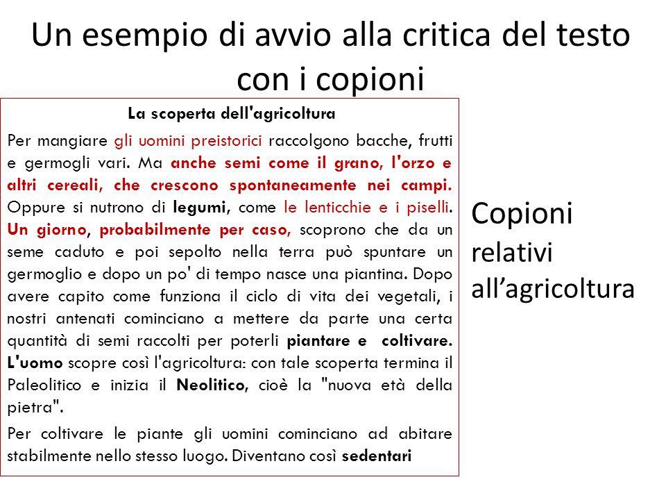 Un esempio di avvio alla critica del testo con i copioni